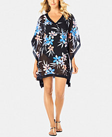 Swim Solutions Crochet-Trimmed Cover-Up, Created for Macy's