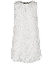 GUESS Big Girls Faux Feather Sequin Dress