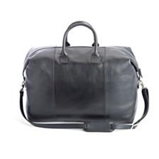 Royce New York Pebbled Leather Weekender Duffel Bag