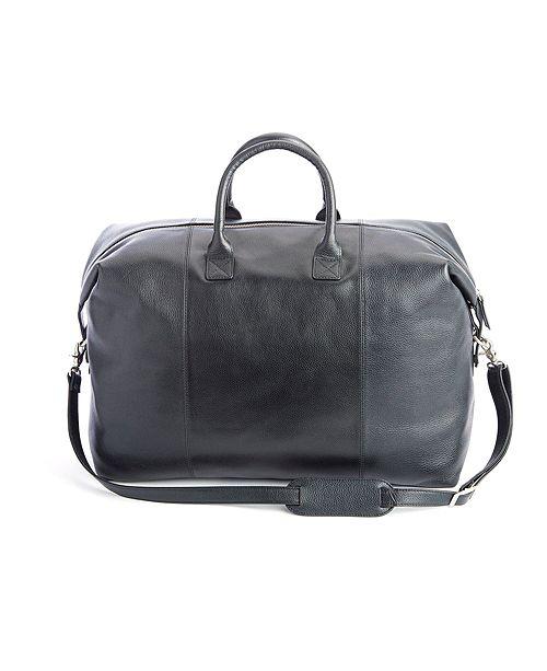 Royce Leather Royce New York Pebbled Leather Weekender Duffel Bag
