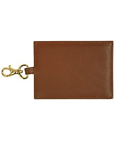 Royce New York Large Luggage Tag with Gold Plated Hardware