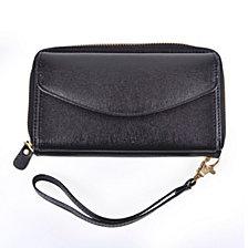Royce New York Zippered Wristlet Wallet