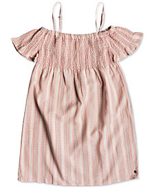 Roxy Big Girls Smocked Striped Cotton Dress