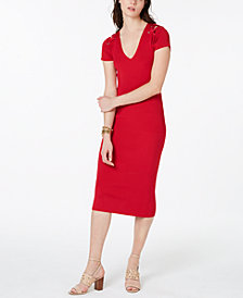 MICHAEL Michael Kors Cutout Lace-Up Bodycon Dress