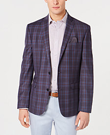 Bar III Men's Slim-Fit Plaid Sport Coat