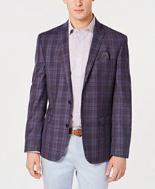 Bar III Men's Slim-Fit Plaid Sport Coat