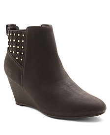 XOXO Barnett Studded Wedge Booties