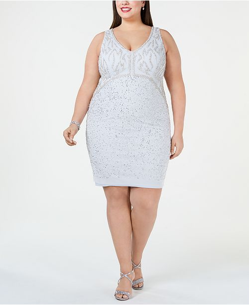 b13d4de0c9 Adrianna Papell Plus Size Embellished Sheath Dress   Reviews ...