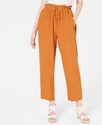 Paper Bag Ankle Pants, Regular & Petite