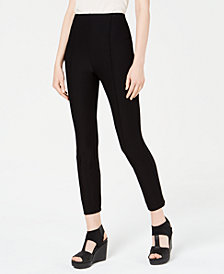 Eileen Fisher Pull-On Seamed Skinny Ankle Pants