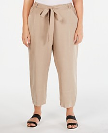 Eileen Fisher Plus Size Tie-Waist Pants