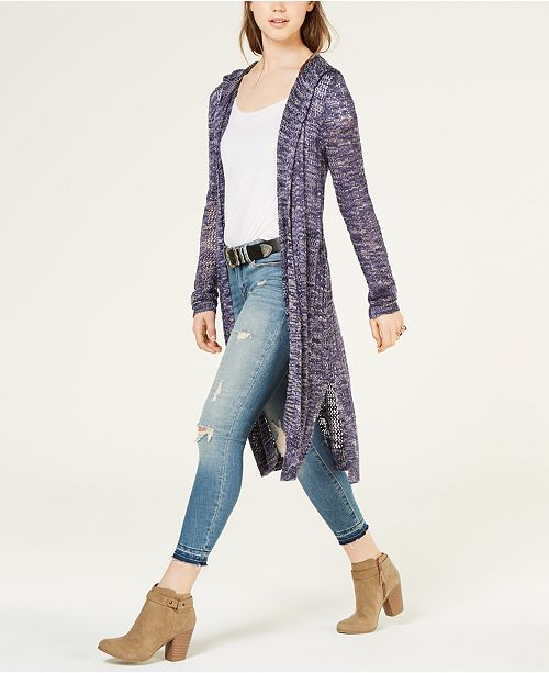 American Rag Juniors' Mixed-Stitch Duster Cardigan, Created for Macy's