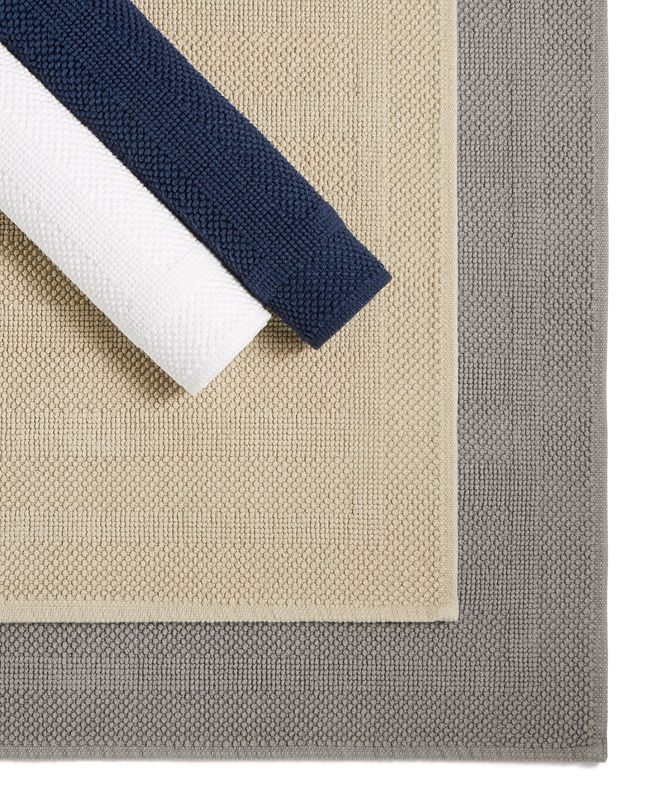 Hotel Collection Woven Stripe Cotton Mats Collection, Created for Macy's
