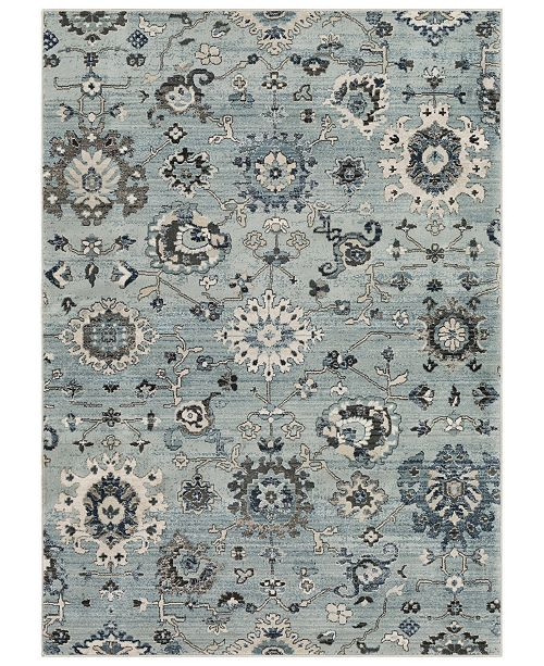 "Surya Mesopotamia MEP-2309 Medium Gray 7'10"" x 9'10"" Area Rug"