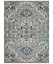 Mesopotamia MEP-2311 Medium Gray 3' x 5' Area Rug