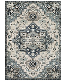 Mesopotamia MEP-2312 Medium Gray 3' x 5' Area Rug