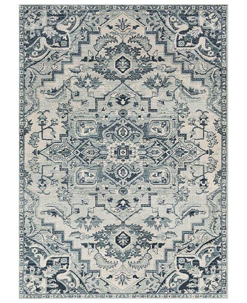 "Surya Mesopotamia MEP-2313 Medium Gray 7'10"" x 9'10"" Area Rug"