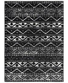 "Mumbai MUM-2320 Black 5'3"" x 7'3"" Area Rug"