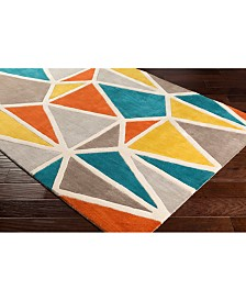 """Surya Oasis OAS-1133 Teal 18"""" Square Swatch"""