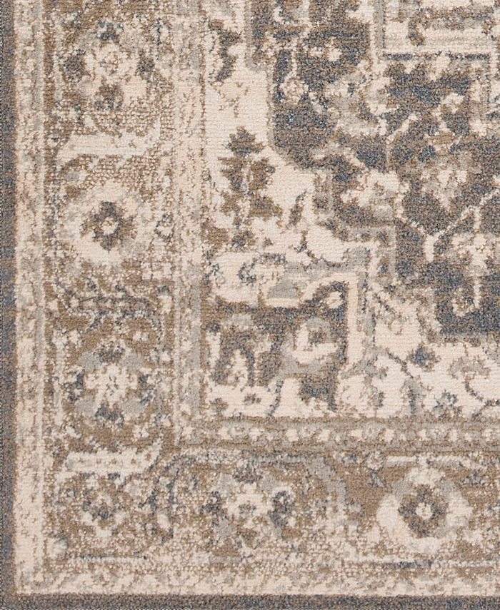 """Abbie & Allie Rugs - Oslo OSL-2303 Charcoal 18"""" Square Swatch"""