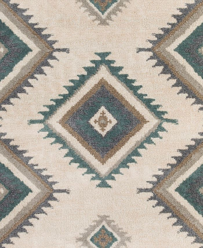 """Abbie & Allie Rugs - Oslo OSL-2306 Teal 18"""" Square Swatch"""