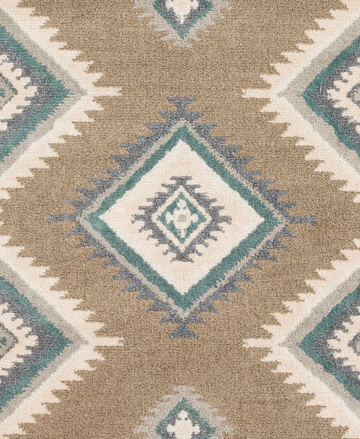 """Abbie & Allie Rugs - Oslo OSL-2307 Camel 18"""" Square Swatch"""