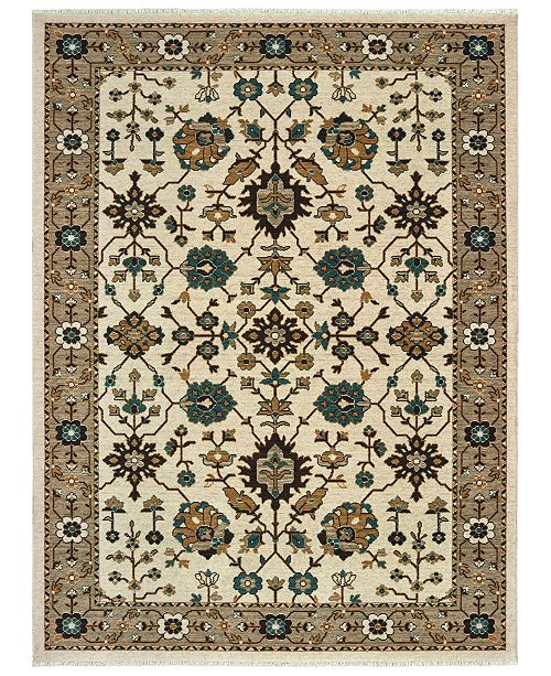 "Oriental Weavers Anatolia 5990J Ivory/Grey 6'7"" x 9'6"" Area Rug"