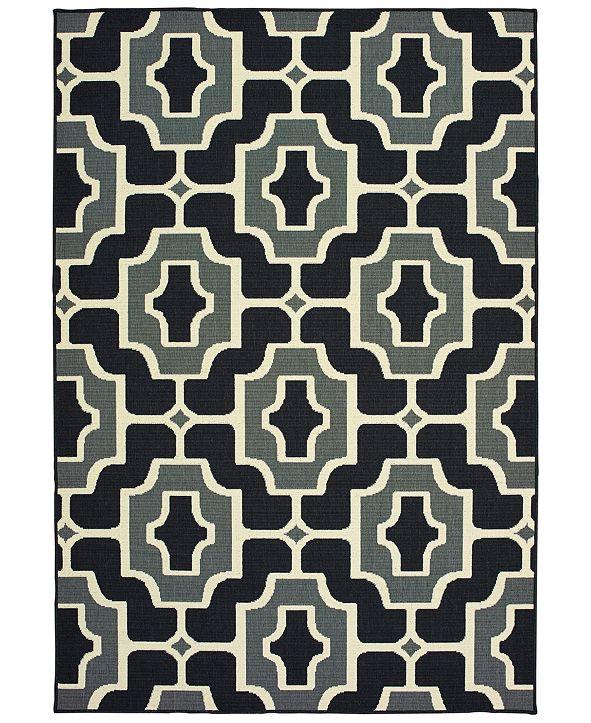 """Oriental Weavers Marina 1491Z Black/Gray 5'3"""" x 7'6"""" Indoor/Outdoor Area Rug"""