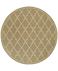 "Marina 7765 7'10"" Indoor/Outdoor Round Area Rug"