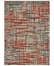 """Montage 5503X Grey/Red 9'10"""" x 12'10"""" Area Rug"""