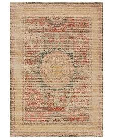 "Oriental Weavers Toscana 9564A Ivory/Orange 6'7"" x 9'6"" Area Rug"