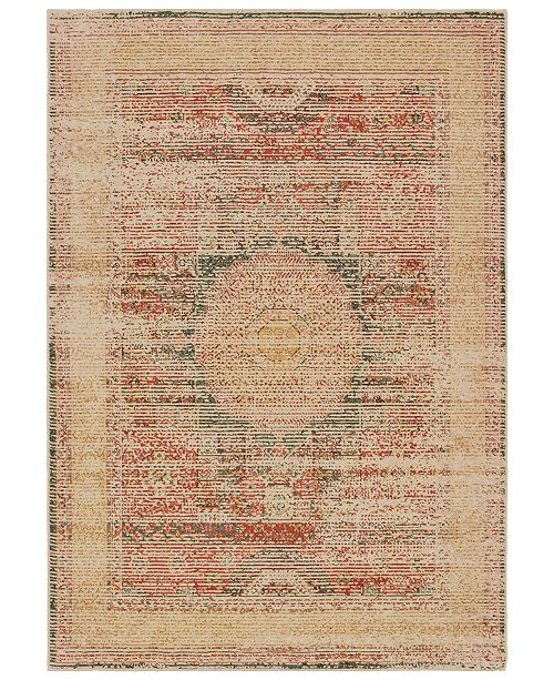 "Oriental Weavers Toscana 9564A Ivory/Orange 2'3"" x 7'6"" Runner Area Rug"