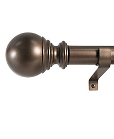 1-Inch Ball Telescoping Curtain Rod Set, 72 to 144-Inch, Bronze