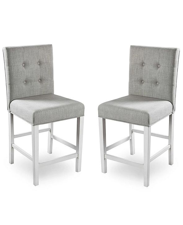 Furniture Ronon Transitional Pub Chair (Set of 2)
