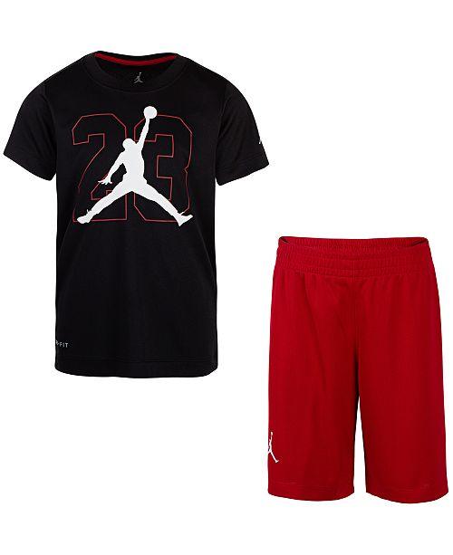 c34ca01c9606 Jordan Toddler Boys 2-Pc. T-Shirt   Shorts Set   Reviews - Sets ...