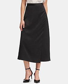 DKNY Side-Slit Midi Skirt