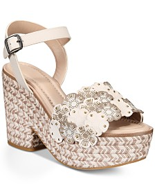 COACH Jae Espadrille Wedge Sandals