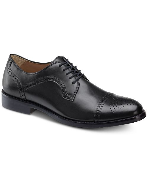 Johnston & Murphy Men's Halford Cap-Toe Oxfords