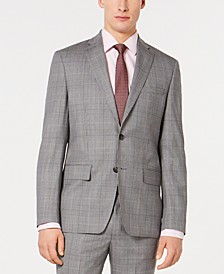 Men's Modern-Fit Plaid Suit Jacket