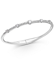 Crystal Hinge Bangle Bracelet, Created for Macy's