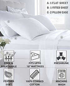 200 Thread Count 100% Cotton Bedsheet Set