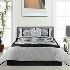 Hillsboro 5Pc Comforter Set Black Queen