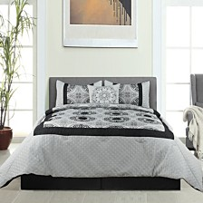 Hillsboro 5Pc Comforter Set Black Queen