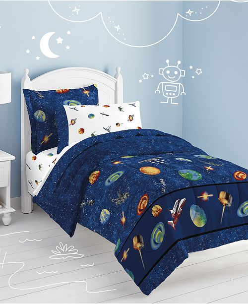 Dream Factory Outer Space Twin Comforter Set