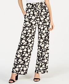 Petite Floral Drawstring Pants