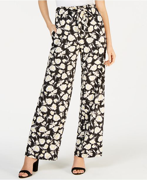 John Paul Richard Petite Floral Drawstring Pants
