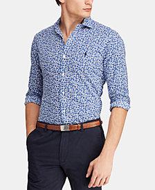 Polo Ralph Lauren Men's Big & Tall Classic Fit Floral-Print Cotton Shirt