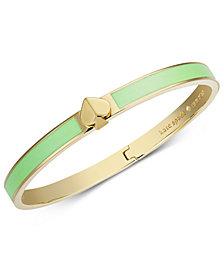kate spade new york Gold-Tone & Colored Enamel Spade Bangle Bracelet