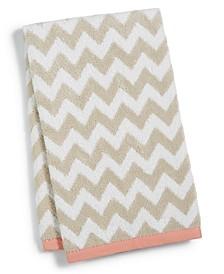 "Chevron Spa Cotton 16"" x 28"" Hand Towel, Created for Macy's"