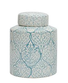 Small Decorative Ceramic Ginger Jar w/Lid